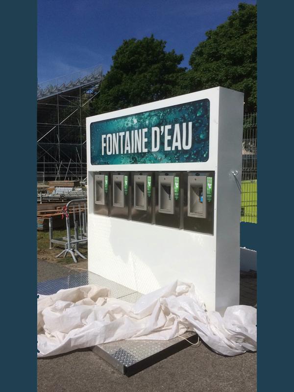Distributeur d'eau – Festival d'été de Québec